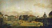 Der Zwingerhof in Dresden