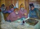 Prostituierte beim Abendessen