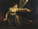 Frau bei Mondschein