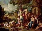 Erminia bei den Hirten. Lwd., 129 x 181