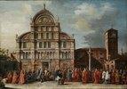 Der Besuch des Dogen in San Zaccharia in Venedig. 18. Jh