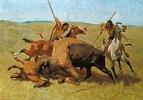 Indianer bei der Büffeljagd