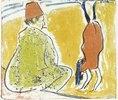 Parterre-Akrobatin und Clown