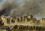 Der Brand im Quartier von S.Marcuola (1789). Lwd., 42,5 x 62,2 cm