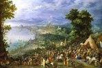 Ansicht einer Hafenstadt (Die Enthaltsamkeit des Scipio). 1600 oder