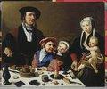 Pieter Jan Foppeszoon und seine Familie. Vor