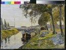 Kanal mit Schiffen