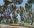 Maler im Olivenhain (Le Peintre dans un bois d, oliviers)