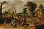 Die Plünderung des Dorfes Wommelgen