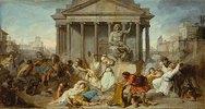 Judas Makkabäus zerstört den Altar und die Statue des Jupiter
