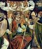 Bischofskrönung des Hl. Arsacius. (Hochaltar, Seitenflügel)