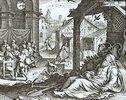 Tobias Tobit begräbt die Toten und erblindet