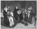 Martin Luther mit seiner Familie
