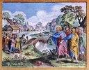 Christus heilt zehn Aussätzige. (Neues Testament, Strassburg 1630)