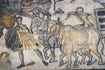 Rindergespann. Mosaikfußboden
