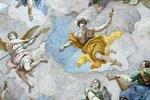 Der Götterbote Merkur (Detail eines Deckengemäldes)
