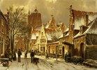 Winterliche Straßenszene