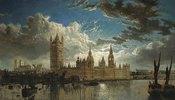 Blick auf Westminster von der Themse aus