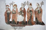 Doktorenfries (Petrus Aureoli, Bonaventura, Papst Sixtus IV., Papst Nikolaus IV., Papst Alexander V.)