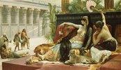Kleopatra testet das Gift an zum Tode Verurteilten