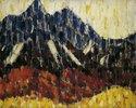 Gebirge mit Lärchenwald