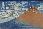 Leichter Wind, klares Wetter. Aus der Serie: 36 Ansichten des Berges Fuji