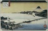 Abenddämmerung in Seta. Aus der Serie: Acht Ansichten des Sees Biwa