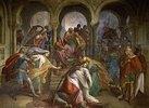 Kriemhilds Tod. 1849. Fresko im Saal der Rache (Nibelungen-Säle) der Residenz in München