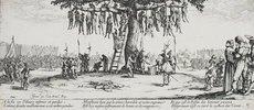 Les Miseres et les Mal-Heurs de la Guerre (Blatt 11): Die Gehenkten oder der Galgenba