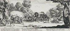 Les Miseres et les Mal-Heurs de la Guerre (Blatt 8): Der Überfall auf eine Kutsche