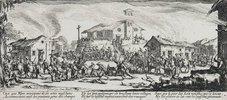 Les Miseres et les Mal-Heurs de la Guerre (Blatt 7): Die Zerstörung und Verbrennung eines Dorfes