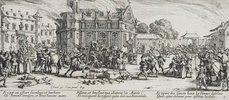 Les Miseres et les Mal-Heurs de la Guerre (Blatt 6): Die Zerstörung eines Klosters