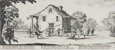 Les Miseres et les Mal-Heurs de la Guerre (Blatt 4): Die Plünderung. 1633