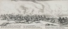 Les Miseres et les Mal-Heurs de la Guerre (Blatt 3): Die Schlacht. 1633