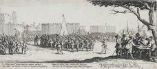 Les Miseres et les Mal-Heurs de la Guerre (Blatt 2): Die Anwerbung der Truppen. 1633