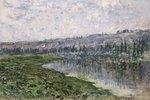 Die Seine mit den Hügeln von Chantemsle