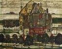 Einzelne Häuser (Häuser mit Bergen)