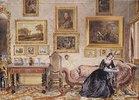 Schreibende Dame im Salon