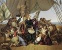Christopher Kolumbus auf seinem Schiff
