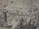 In der Akademie: Künstler beim Aktzeichnen