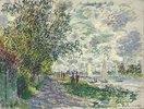 Das Seine-Ufer bei Petit-Gennevilliers