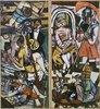Triptychon (Linke und rechte Tafel): Die Akrobaten. 1939 (siehe auch Bildnummer 15783)