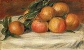Stillleben mit Äpfeln und Orangen