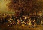 Das Kirchweihfest (Tanz unter den Linden vor einem hessischen Dorf)