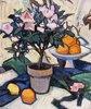 Rosa Azaleen und Orangen