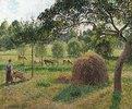 Ein bedeckter tag in Eragny