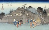 Weide am Stadttor von Shimabara. Aus der Serie: Berühmte Orte in Kyoto