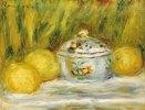 Stillleben mit Zuckerdose und Zitronen