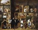 Der Erzherzog Leopold Wilhelm mit dem Künstler und anderen Personen in seiner Galerie