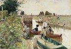 Schleusentor auf der Themse